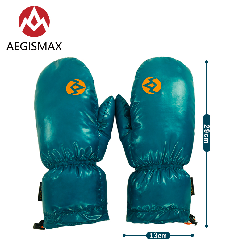 AEGISMAX New Product Winter Keep Warm Unisex Down Gloves  Outdoor Camping Windproof Skiing Cycling Gloves