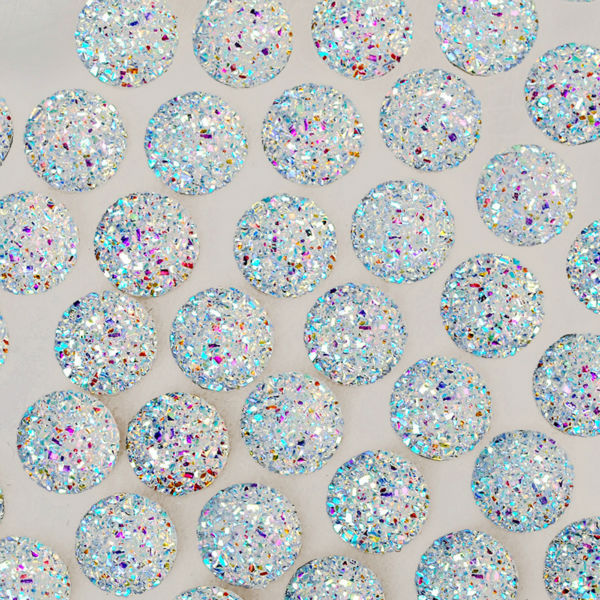 US $7 3 |100pcs 12mm round shiny resin cabochon,Embellishments Craft  Supplies,glitter resin for jewelry making,Crystal 10062554-in Jewelry  Findings &