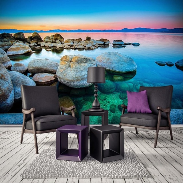 Bedroom Athletics Voucher Cool Bedroom Wall Art Ideas Burgundy And Black Bedroom Burgundy Carpet Bedroom: Custom Wall Mural Wallpaper Seaside Sea Water Stone