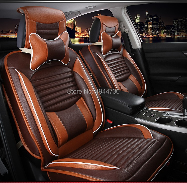 Car Seat Cover 5 Seats Four Seasons Leather Cover For BMW
