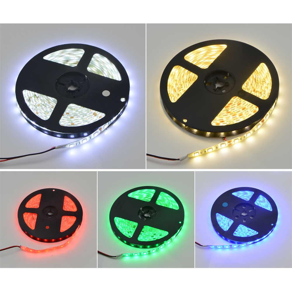 Tira de led, 5050 5630 rgb luzes 12 v 5 m flexível decoração de casa cozinha lâmpada de led à prova d' água 2835 fita de led fita de diodo 60 leds/m