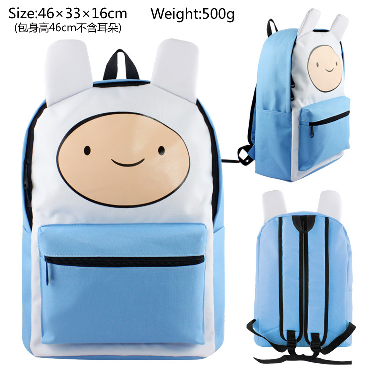 Men Women Adventure Time Finn Dragon Ball Yuri Backpack Bag Knapsack Packsack School Zipper Messenger Shoulder Bags