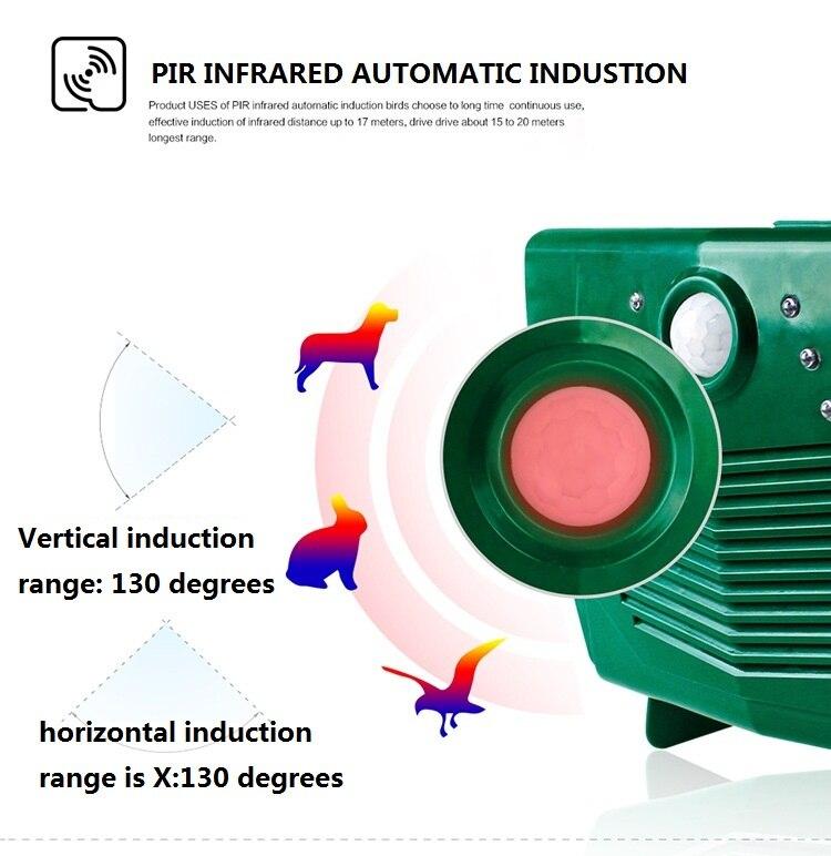US $109 5 21% OFF|220V Ultrasonic Bird Repeller Pigeon Deterrent Anti Bird  Pest Repellent For Outdoor Garden Yard-in Repellents from Home & Garden on