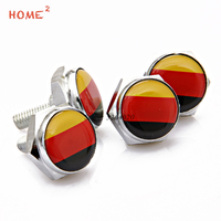 4Pcs Set Car Styling License Plate Frame Screws Bolts For Germany Flag Logo For Honda VW