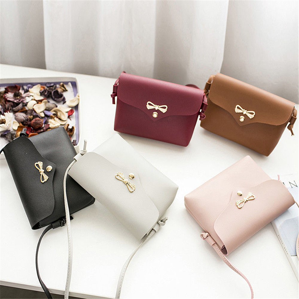 Mini Bag Handbags Crossbody-Bag Messenger Small Fashion Women Ladies Hasp Bow Bowknot