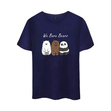 Animated Sitcom We Bare Bears Cotton T-shirt Tee SHIRT t shirt Short Sleeve Sleeve Men Women Funny Tee The Three Bare Bears