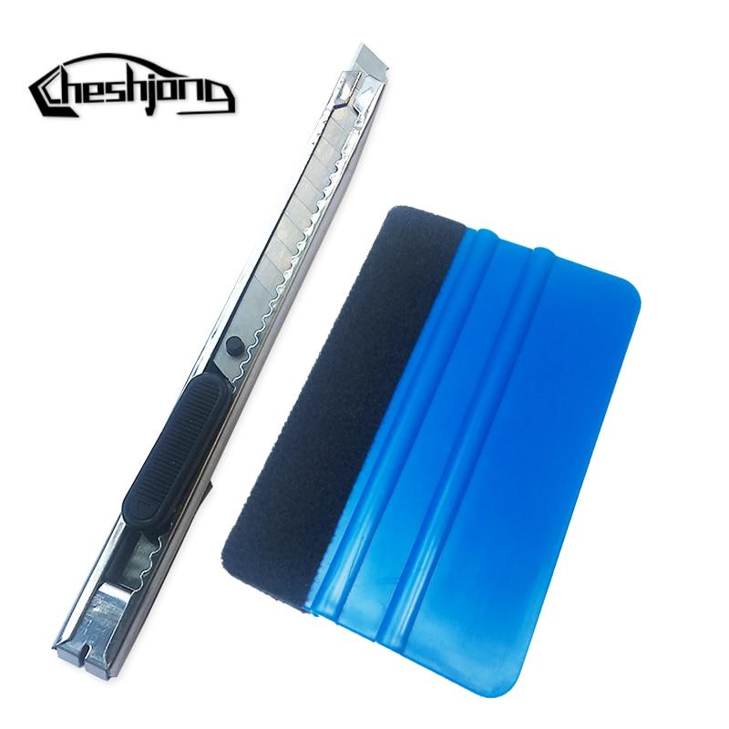 1 Pz Utile Blu Raschietto Spatola Con Feltro Bordo Seccatoio Di Ricambio Tessuto Feltro 1 Pz Coltello Arte