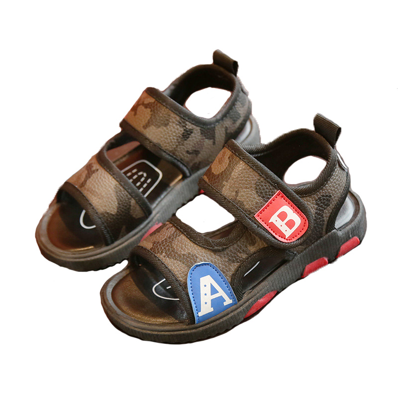 Children Summer Shoes Boys Soft Beach Comfortable Sandals Kids Camouflage Sports Shoes Boys Casual Shoes
