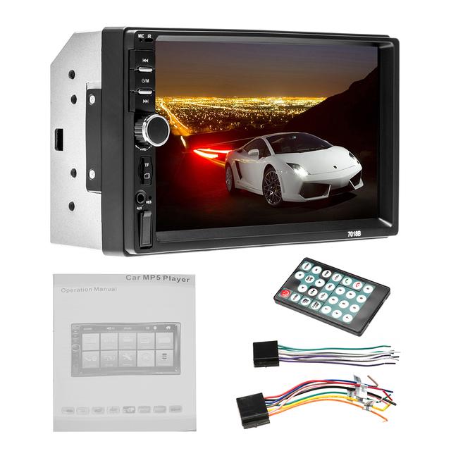 AMPrime 7018B Universal Car Multimedia Player Autoradio 2din Stereo 7″ Touch Screen FM Video MP5 Player Auto Radio Backup Camera