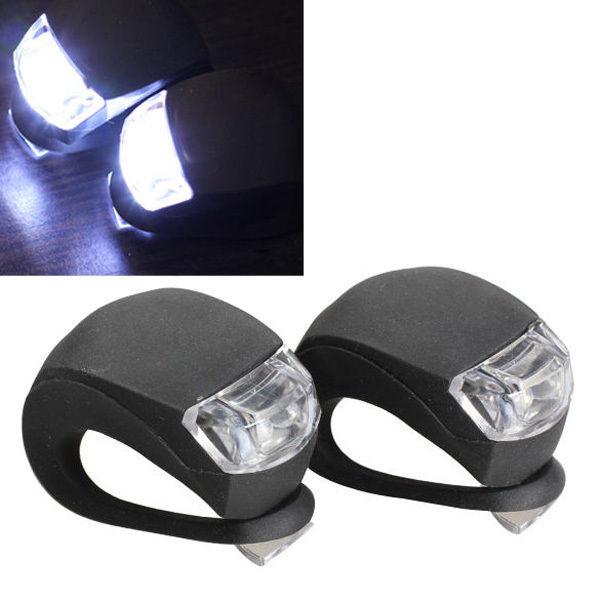 2 Stück LED Fahrrad Fahrrad Radfahren Silikon Kopf Vorderrad Hinterrad Sicherheitslicht Lampe
