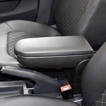 SPEEDWOW Car Center Console Arm Rest Lid PU Leather Armrest Cover Latch For VW Jetta Golf 4 MK4 Bora Passat B5 Beetle Polo