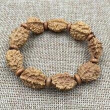 Натуральный Ваджра Бодхи/рудракша деревянные молитвенные бусы из бисера браслет B639