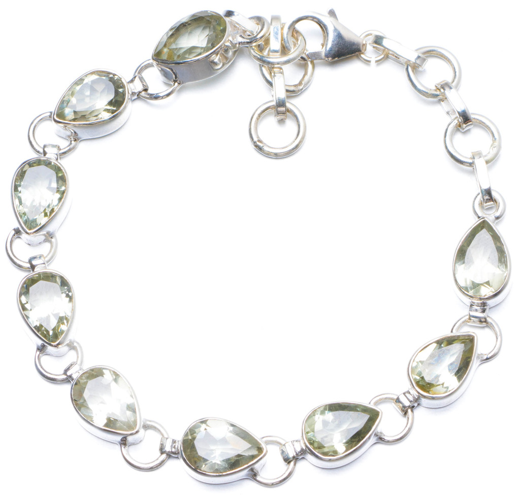Natural Green Amethyst Handmade Unique 925 Sterling Silver Bracelet 6 3/4-7 1/2 Y0139 100 pcs ld 3361ag 3 digit 0 36 green 7 segment led display common cathode