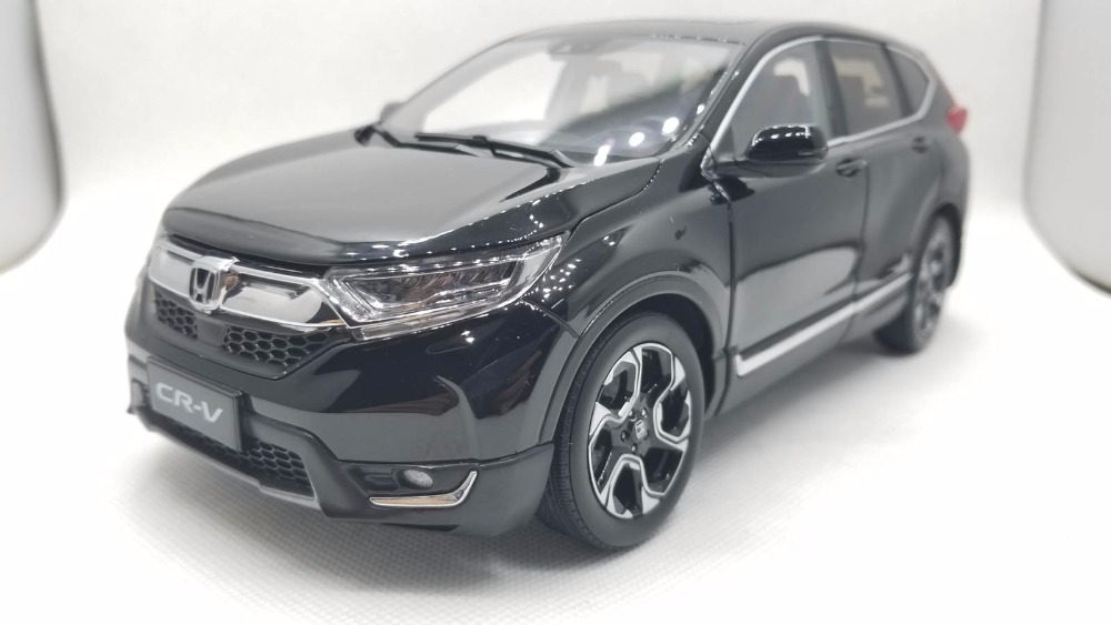 1:18 Diecast Model for Honda CR-V 2017 Black SUV Alloy Toy Car Miniature Collection Gifts CRV CR V for honda crv cr v 2017 2018 stainless steel inner