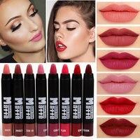 2016 Miss Rose Brand Makeup Sexy Matte Lip Kit Women Lipstick Long Lasting Waterproof Red Velvet Matte Nude Lipstick Pencil