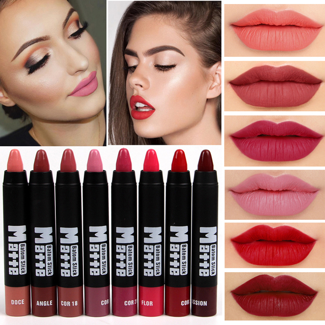 2018 мисс Роза бренд макияж сексуальный матовый губы комплект для женщин губная помада длительный водостойкий красный бархат Матовая Обнаженная губная помада карандаш