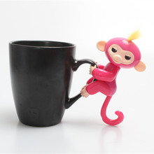 13cm New Finger Child Toy Finger Monkey Kid Colorful Finger baby Monkey Kawaii Pet Toys For Children only LED glow and turn