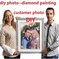 Custom Made Diy Diamond Painting Cross Stitch Embroidery Rhinestones Personal Picture Photo 100 Full Square Drill
