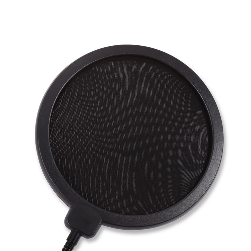 double layer pop filter studio mic wind screen pop filter swivel mount mask shield microphone. Black Bedroom Furniture Sets. Home Design Ideas