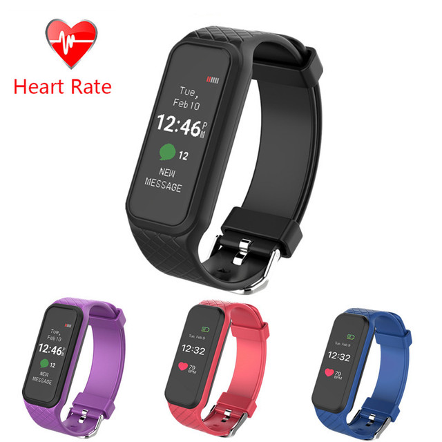 Color Touch screen Smart Band Heart Rate Monitor smartband Pedometer Sleep Fitness Tracker bluetooth bracelet pk mi band 2 L30t
