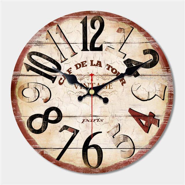a9cf38aec8 US $13.66 41% di SCONTO Grande Orologio Da Parete Antico Disegno Silenzioso  Soggiorno Horloge Murale Decorazione della Casa Dell'orologio di Parete ...