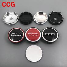 4 pçs 56mm 60mm 5cc 500 logotipo do carro roda centro hub tampão aro auto reequipamento emblema emblema criativo capa etiqueta para 124 125 125 500 695