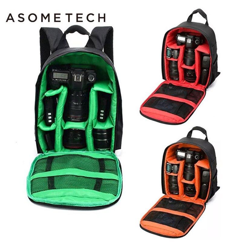 ASOMETECH DSLR מצלמה תיק תרמיל הדיגיטלי Gear עמיד למים עמיד הלם לנשימה ללבוש עבור ניקון D3200 D3100 D5200 D7100