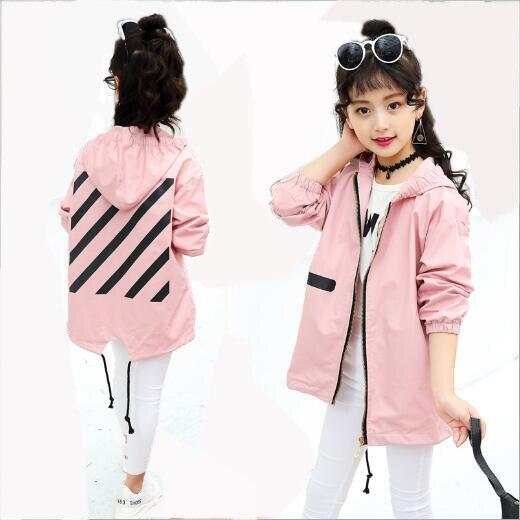 c0bbf59fd 2017 New windbreaker girls zipper jacket girl outerwear kids coats ...
