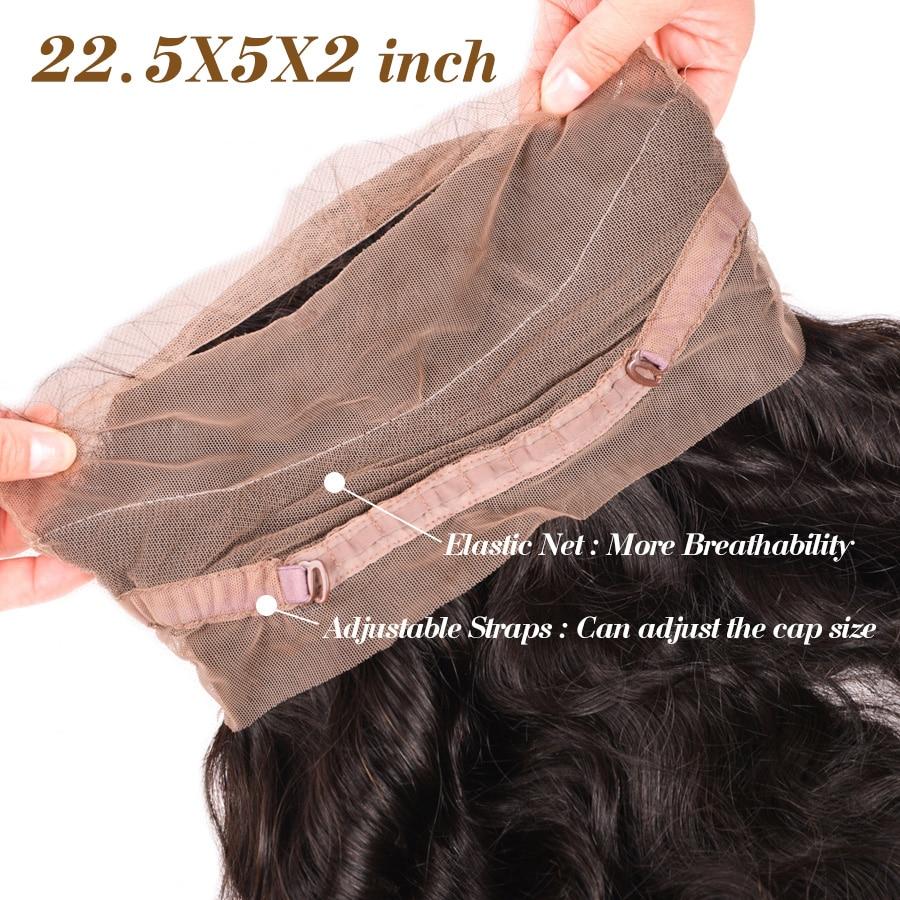 Pre Plucked 360 Lace Frontal med Bundle Body Wave Brasilian Human - Mänskligt hår (svart) - Foto 5