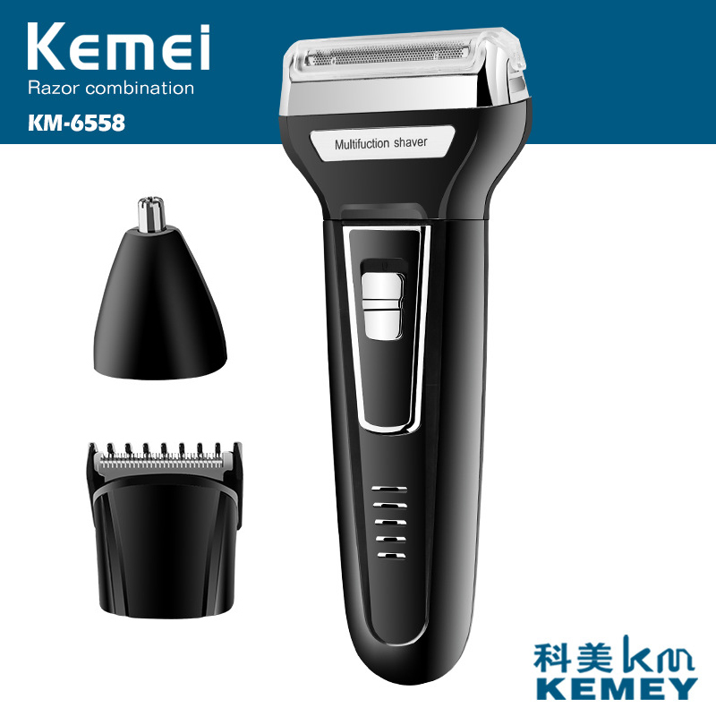 110-240v kemei rechargeable 3 in 1 electric shaver beard shaver hair trimmer electric razor men shaving machine nose trimmer 5d razor electric shaver for men rechargeable men s shaving machine with nose trimmer eu plug