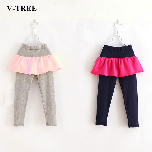 df14c8bb5 Autumn Spring Girls Leggings With Skirt Cotton Skirt Pants For Girls ...