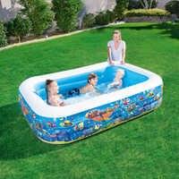 Di alta Qualità di grandi dimensioni 150X110X48 centimetri di Plastica Gonfiabile Quadrato Blu underwater world modello piscina di palline piscina Oceano piscina di palline