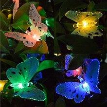 Солнечный 12LED Сказочный светильник-бабочка, открытый садовый декоративный фонарь, наземный фонарь, путь, садовый настил