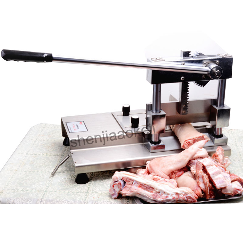 ST700 Stainless Steel Cutting ribs machine home use meat cutting machine manual cutting bone ribs machine pig's trotters 1pc