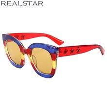 REALSTAR 2018 Bande De Mode lunettes de Soleil Femmes Marque Designer De  Luxe Diamond Star Lunettes de Soleil Vintage Lunettes N.. 71638cd70360