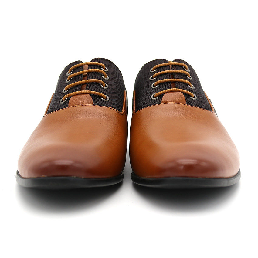 BIMUDUIYU Plus Size 6.5-12 Formal Leather Men Dress Shoes Elegant Design Quality Brand Mens Business Basic Casual Oxfords Shoes