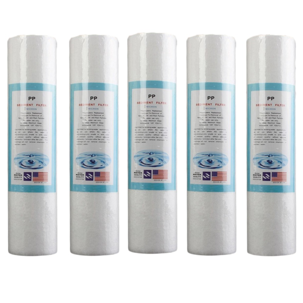 5Pcs Replacement Water Sediment Filters (1 Micron) 2.5