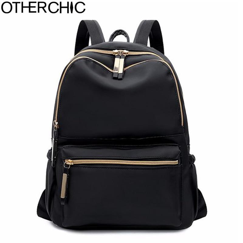 OTHERCHIC Fashion Women Simple Backpacks Black Oxford Backpack For Teenage Girls Sac A Dos Femme Female Knapsack 8N01-13 цена