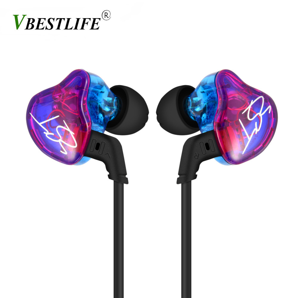 For KZ ZST Wired Cable Detachable Earphone Hybrid Banlance Armature Dynamic HiFi (Without Mic)