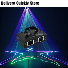 цена на Fast Delivery 2Heads RGB Scan Disco Laser Good Use For DJ Dance Bar Coffee Xmas Home Party Effect Lighting Light System Show
