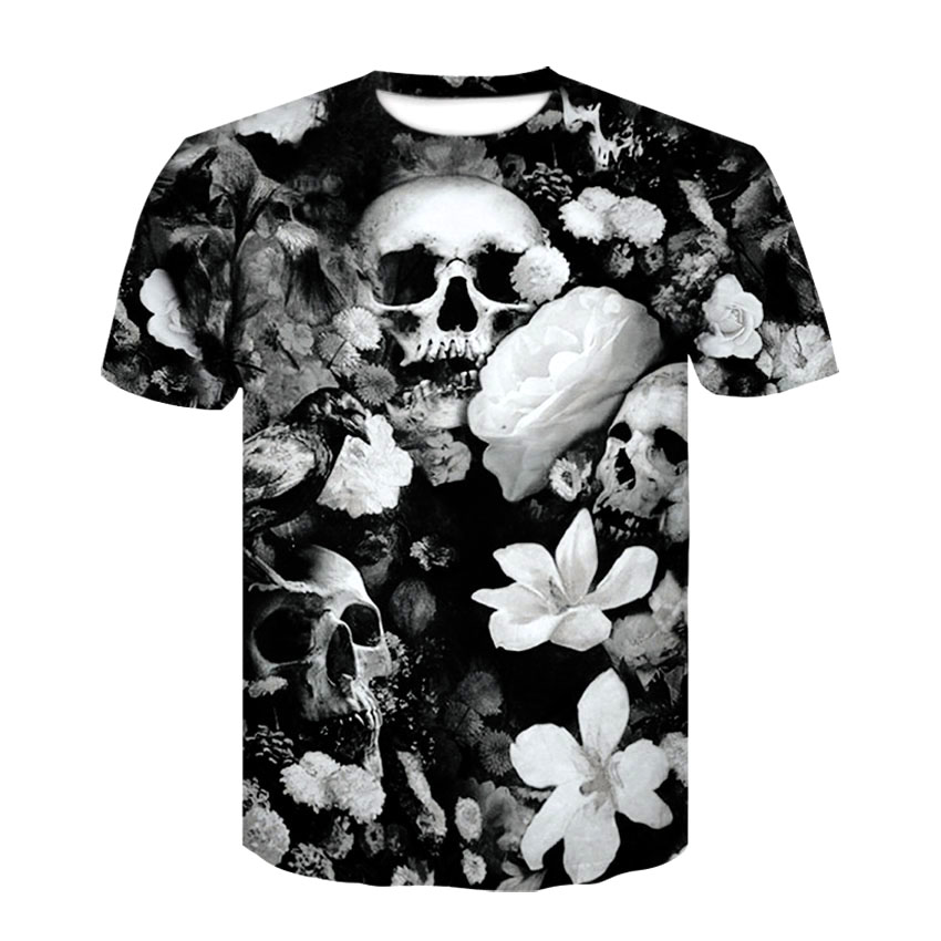 Devin Du Thunder Skull T Shirt EUR Size Men Women Hip Hop Summer T-Shirts 2018 Camisa Masculina Women Tee Tops Unisex Pullover