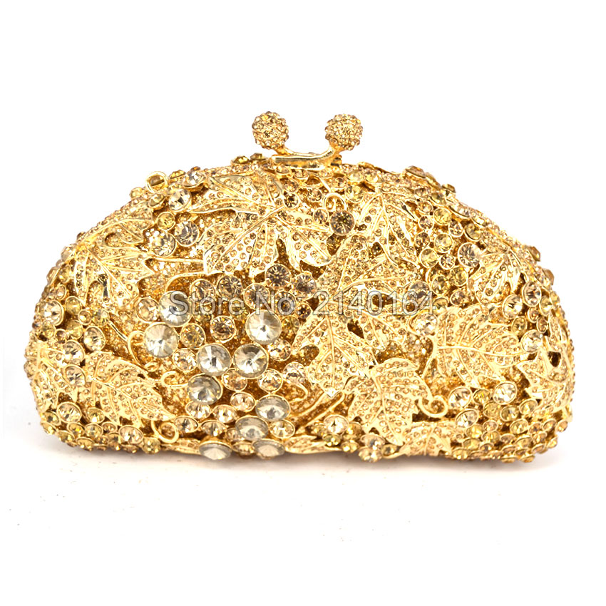 Crystal Rhinestone Vines Wedding Prom Party Clutch Handbags and Evening Clutch Bag for Women Luxury Crystal Evening Bag (88173E) faux crystal mosaic clutch evening bag