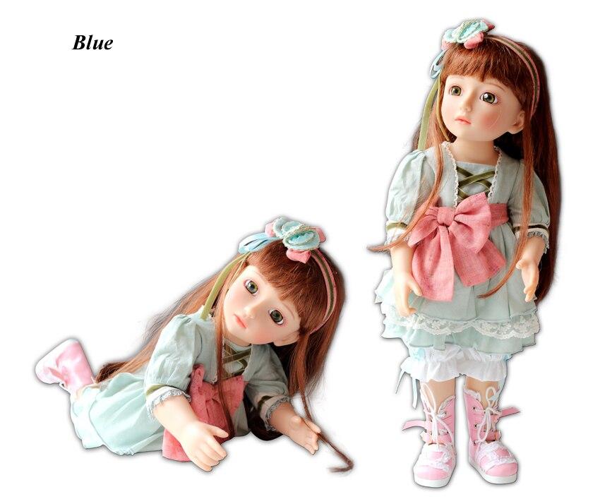 BJD Ball Jointed Doll High Vinyl Girl Toy 18in 45cm Blue Fairy NPK