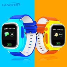 LANGTEK GPS Smart Watch Baby Watch Q90 with Wifi Touch Screen SOS Call Location DeviceTracker for Kids Safe Anti-Lost Monitor