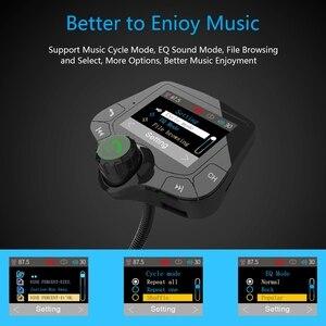 Image 5 - G24 HD цветной экран беспроводной автомобильный комплект Bluetooth MP3 плеер Hands free вызов fm передатчик автомобильный комплект поддержка QC 3,0 быстрое зарядное устройство