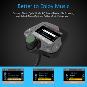 Image 5 - G24 HD Schermo a Colori Wireless Car Kit Bluetooth Lettore MP3 Le Chiamate in Vivavoce Trasmettitore FM Kit Per Auto supporto per il CONTROLLO di QUALITÀ 3.0 caricabatterie Rapido