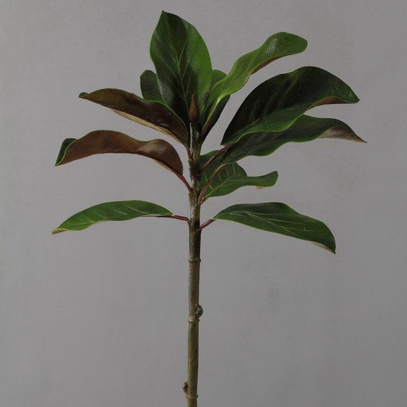6 sztuk 61cm zaawansowana symulacja Yulan Kapok liść kompozycja kwiatowa roślin ściany materiał udogodnienia takie jak bezpłatny bezprzewodowy dostęp do domu zielony dekoracje sztuczne w Sztuczne i zasuszone kwiaty od Dom i ogród na  Grupa 3