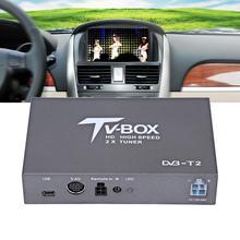 1080P HD DVB-T автомобильный мобильный цифровой ТВ приставка приемник Т2 ТВ приставка приемник с 2 усилителем антенна цифровой автомобильный тв тюнер