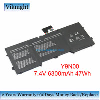 Li Polymer Y9N00 Laptop Battery for Dell XPS12 9Q23 DELL XPS 13 XPS 13 L321X 3H76R 489XN C4K9V Y9N00 Battery 7.4V 6300mAh 47Wh