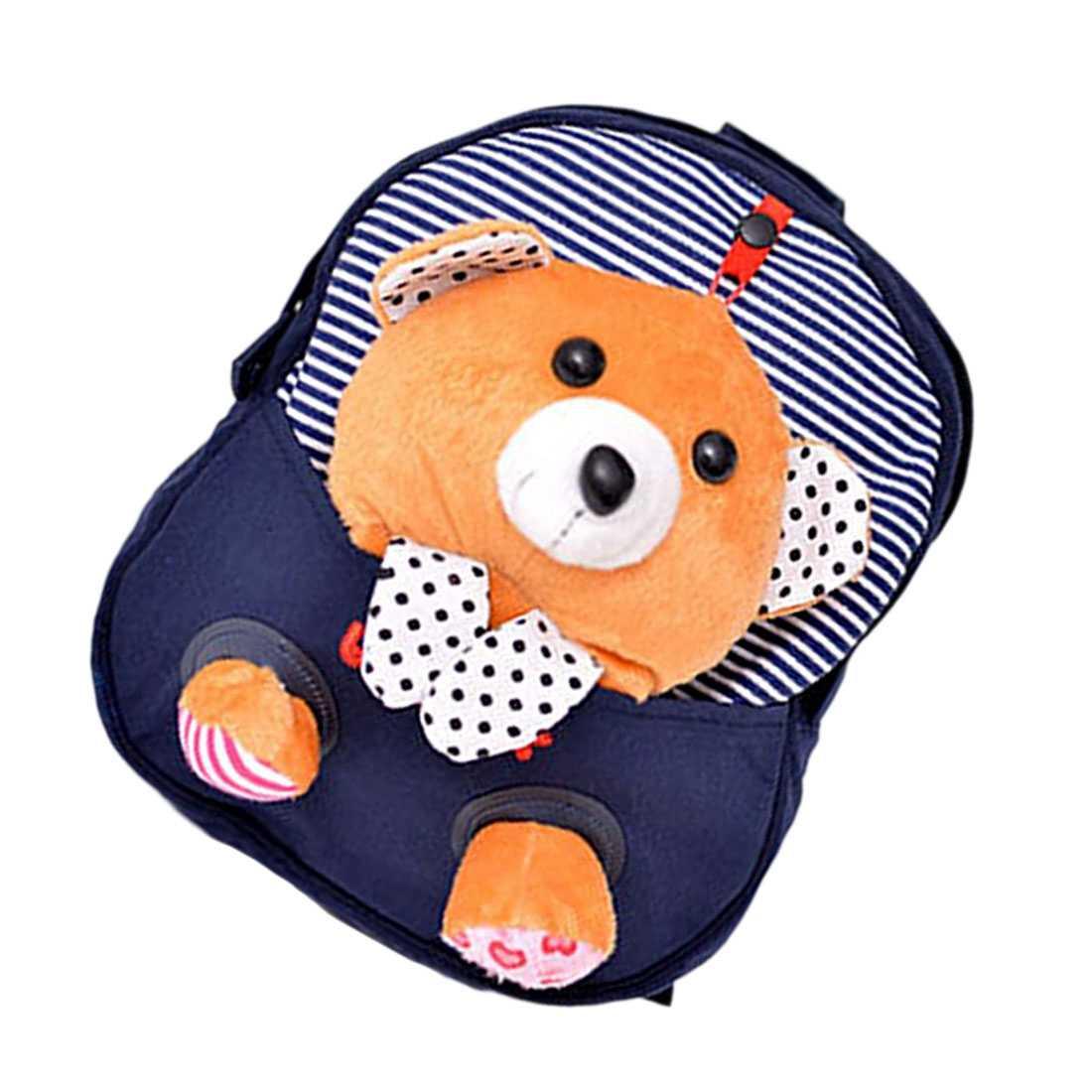 4eb8db204d37 FGGS Hot Mini School Bags Backpacks Children Children's backpack Cartoon  Bear Doll Printing Backpack For 2-6 Year Kids Blue